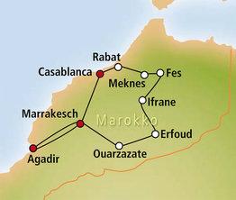 Rundreise Busrundreise Marokko-Faszination aus 1001 Nacht