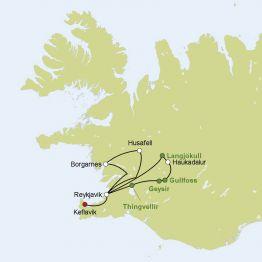Rundreise Busreise Island - von Gletschern und Nordlichtern
