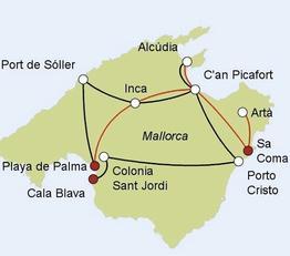 Rundreise Radtouren Mallorca - Charme Mallorca