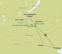 Rundreise Unterwegs in der Mongolei und China englische RL