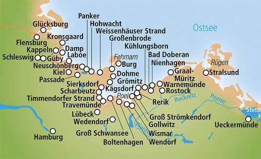 Karte Timmendorfer Strand Ostsee Hanzeontwerpfabriek