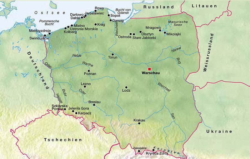 Sasino Polen Landkarte