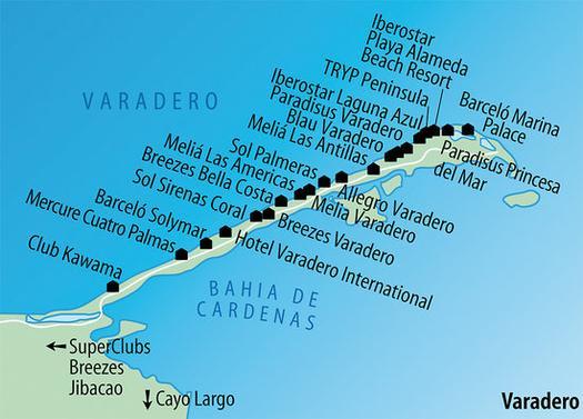 Karte Kuba Varadero.Hotel Kawama In Varadero Meier S Weltreisen