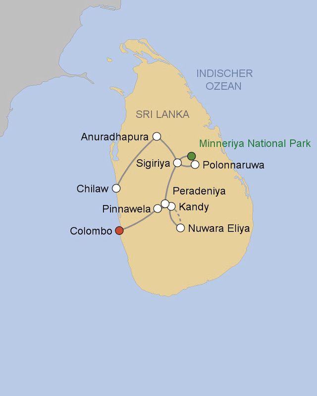 Sri Lanka Karte Zum Drucken.Rundreise Konigsstadte Sri Lankas Ab Colombo Meier S