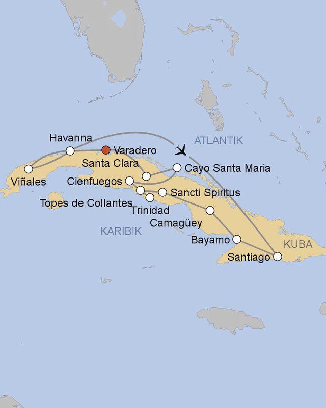 Kuba Karte Rundreise.Rundreise Hohepunkte Kubas Ab Varadero Meier S Weltreisen